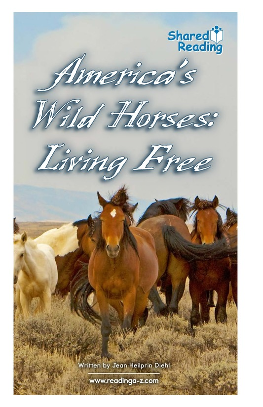 Book Preview For America's Wild Horses: Living Free Page 1