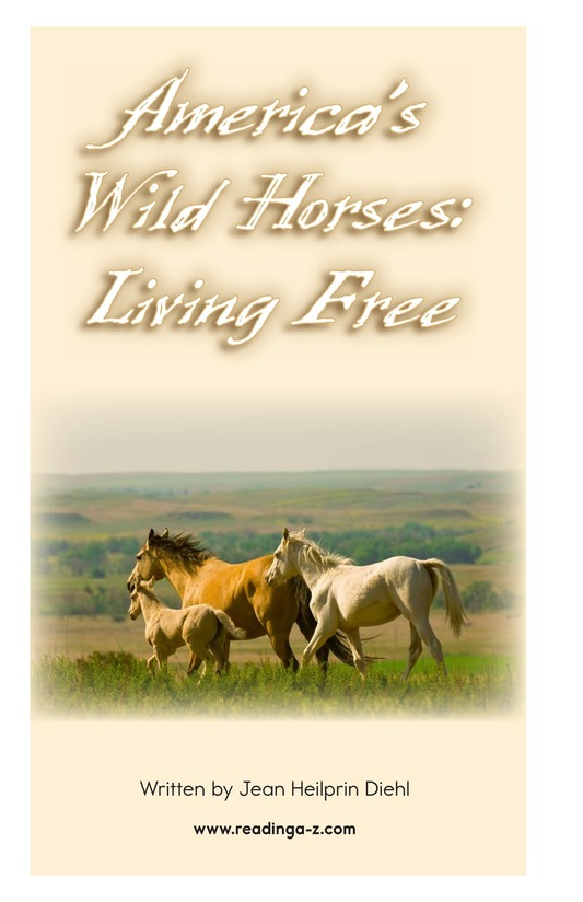 Book Preview For America's Wild Horses: Living Free Page 2