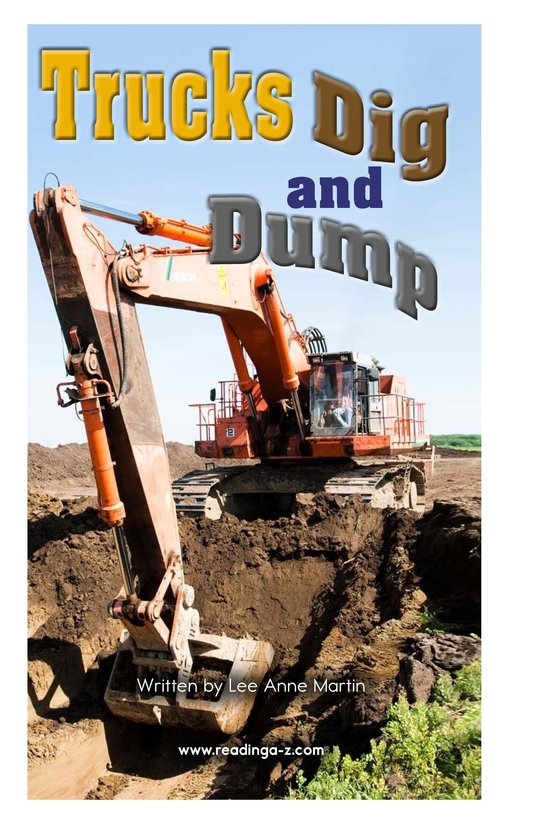 Book Preview For Trucks Dig and Dump Page 2
