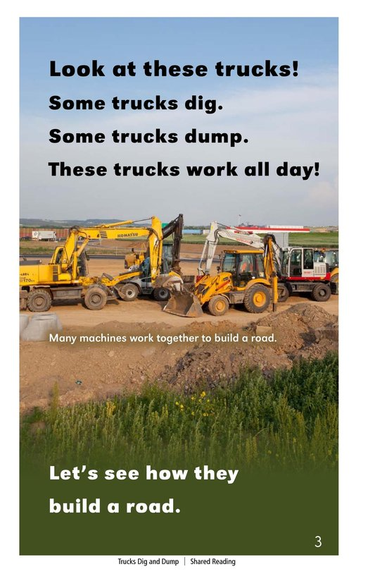 Book Preview For Trucks Dig and Dump Page 3