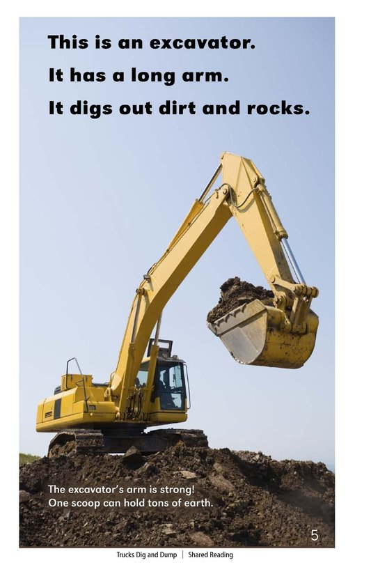 Book Preview For Trucks Dig and Dump Page 5