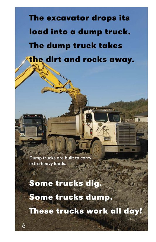 Book Preview For Trucks Dig and Dump Page 6