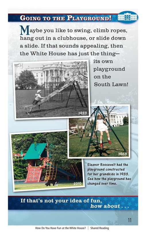 Book Preview For How Do You Have Fun at the White House? Page 11