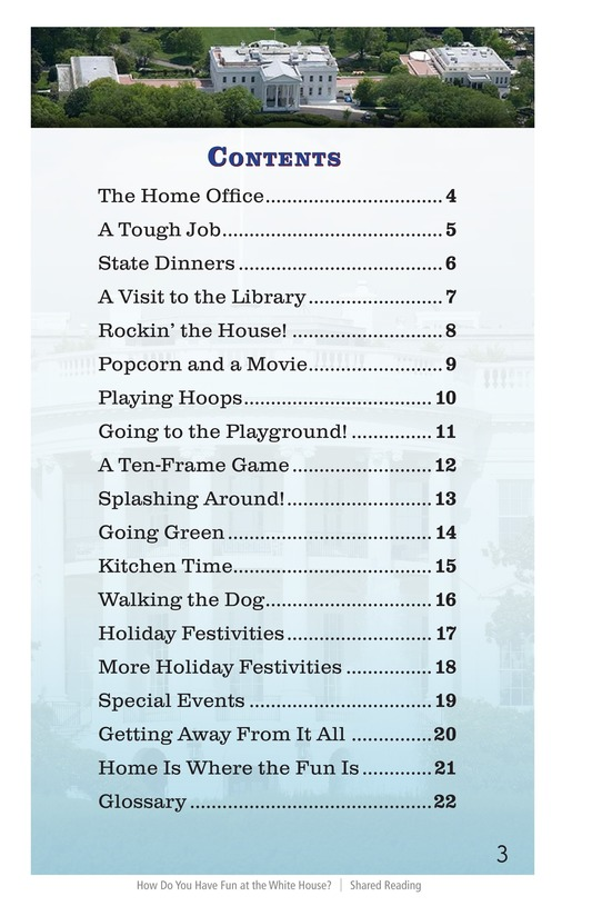 Book Preview For How Do You Have Fun at the White House? Page 3