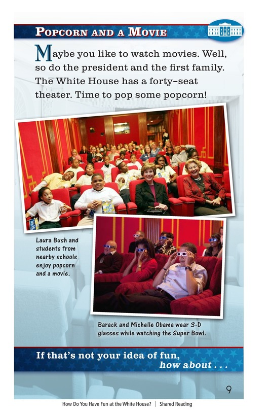 Book Preview For How Do You Have Fun at the White House? Page 9