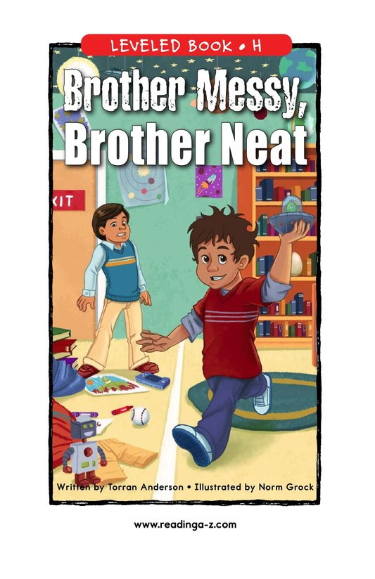 Book Preview For Brother Messy, Brother Neat Page 1