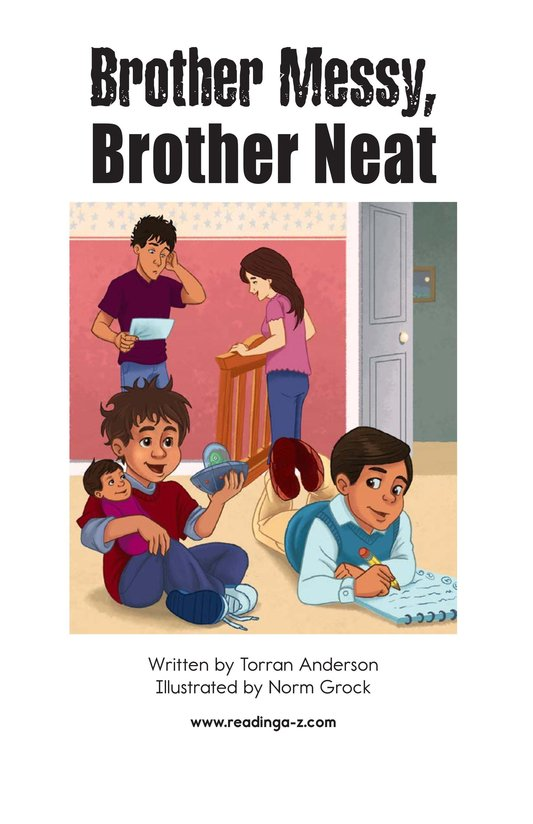 Book Preview For Brother Messy, Brother Neat Page 2