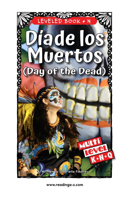 Book Preview For Día de los Muertos Page 1