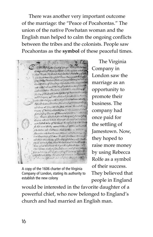 Book Preview For Pocahontas at Jamestown Page 16