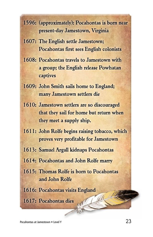 Book Preview For Pocahontas at Jamestown Page 23