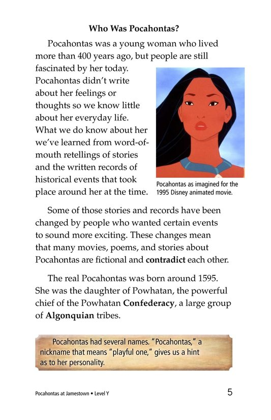 Book Preview For Pocahontas at Jamestown Page 5