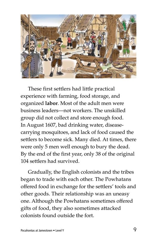 Book Preview For Pocahontas at Jamestown Page 9
