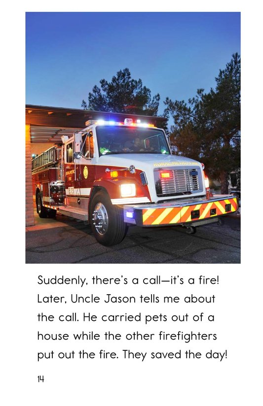 Book Preview For My Uncle Is a Firefighter Page 14