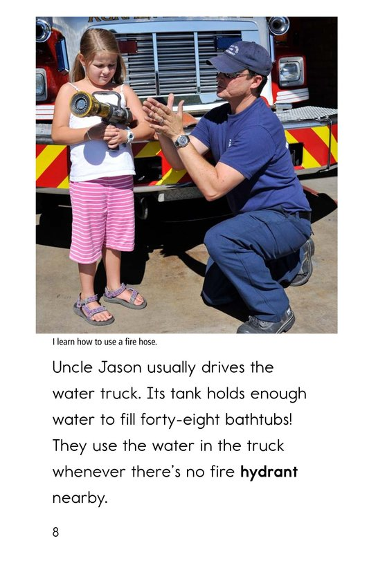 Book Preview For My Uncle Is a Firefighter Page 8