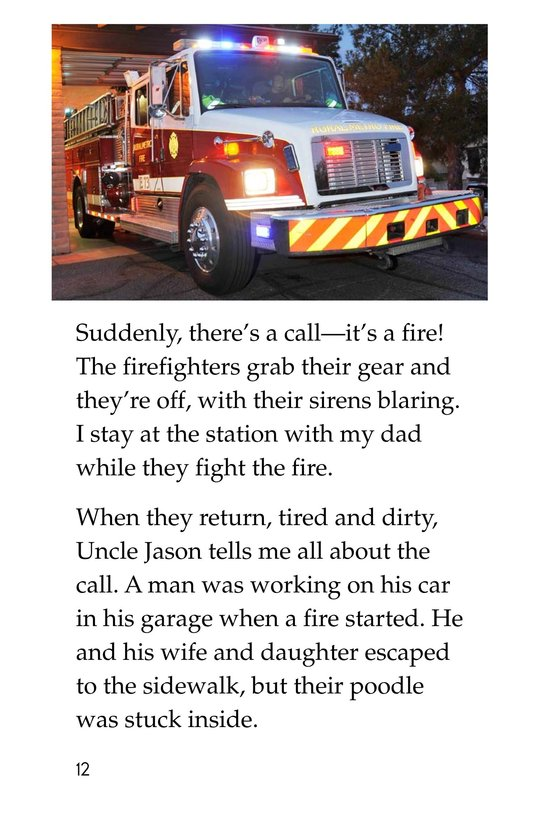 Book Preview For My Uncle Is a Firefighter Page 12
