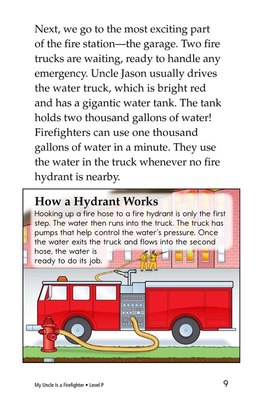 Book Preview For My Uncle Is a Firefighter Page 9