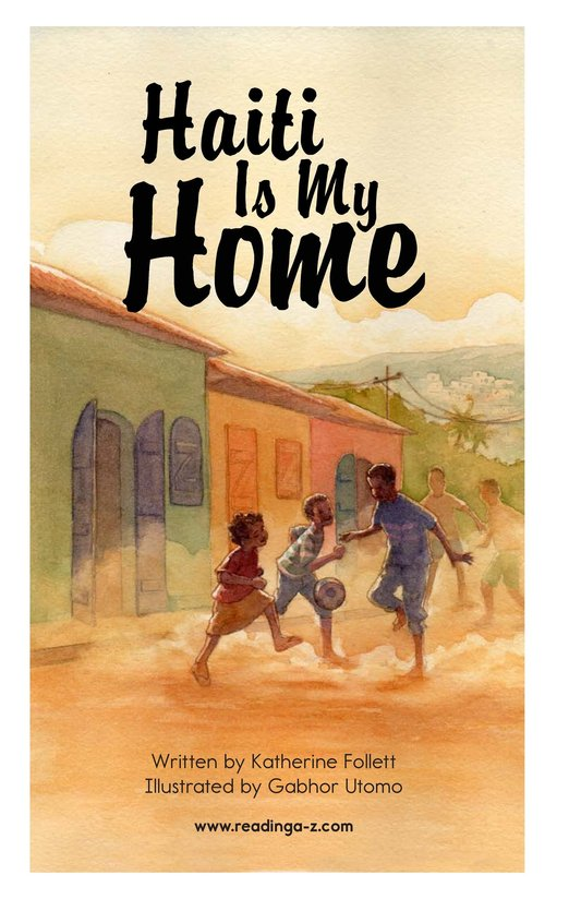 Book Preview For Haiti Is My Home Page 2