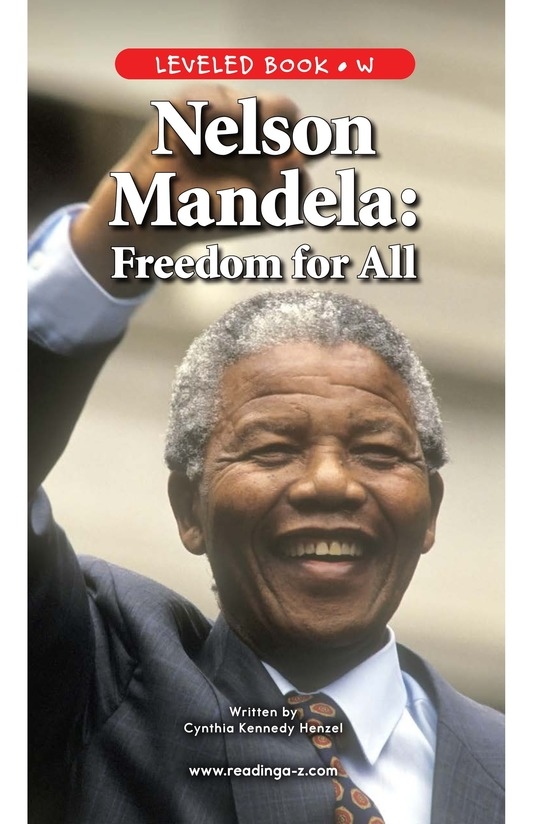 Book Preview For Nelson Mandela Page 1