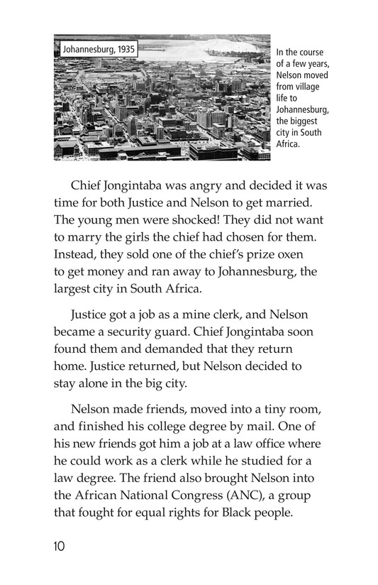 Book Preview For Nelson Mandela Page 10