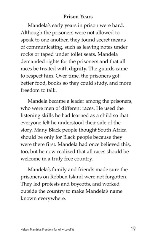 Book Preview For Nelson Mandela Page 19