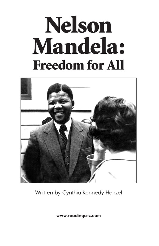 Book Preview For Nelson Mandela Page 2