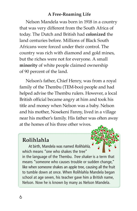 Book Preview For Nelson Mandela Page 6