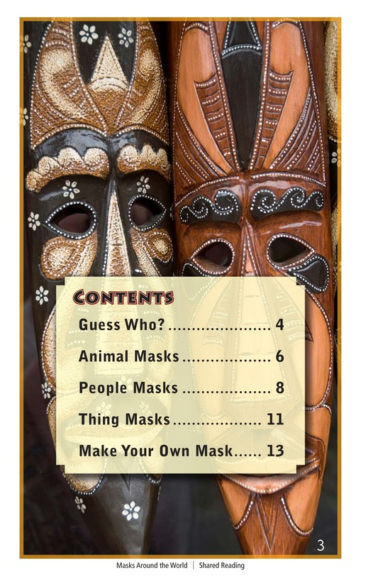 Book Preview For Masks Around the World Page 3