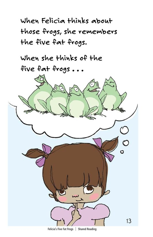 Book Preview For Felicia's Five Fat Frogs Page 13