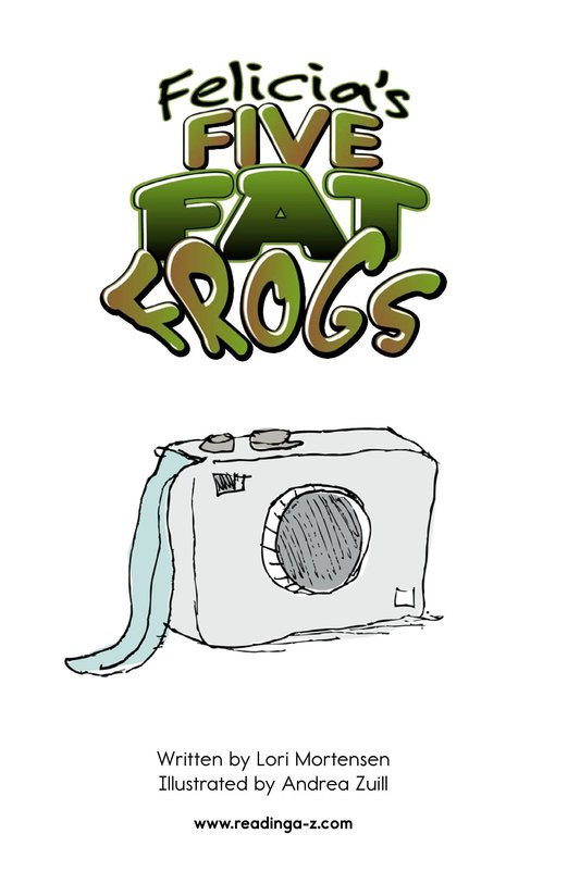 Book Preview For Felicia's Five Fat Frogs Page 2