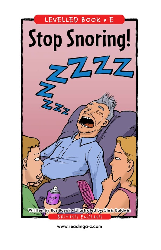 Book Preview For Stop Snoring! Page 1