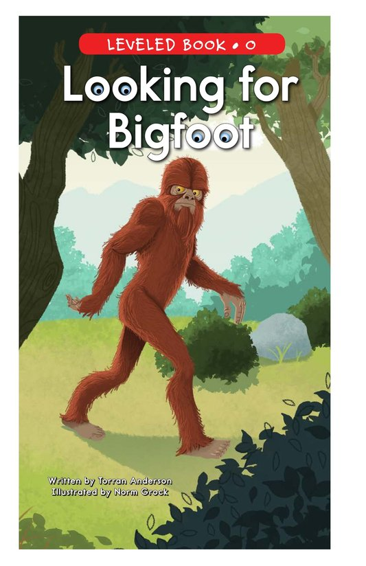 Book Preview For Looking for Bigfoot Page 1