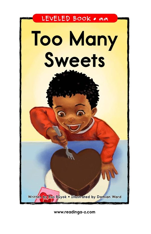 Book Preview For Too Many Sweets Page 1