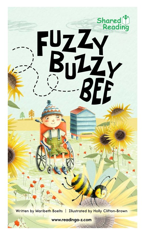 Book Preview For Fuzzy Buzzy Bee Page 1
