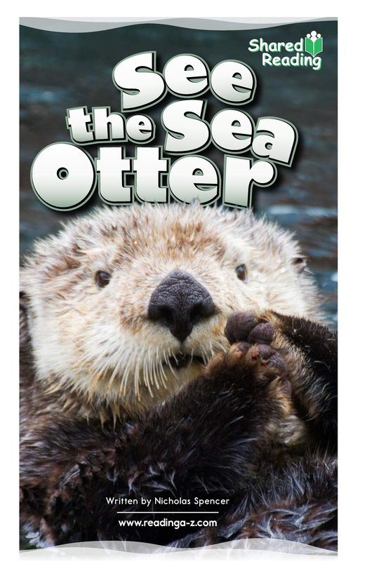 Book Preview For See the Sea Otter Page 1