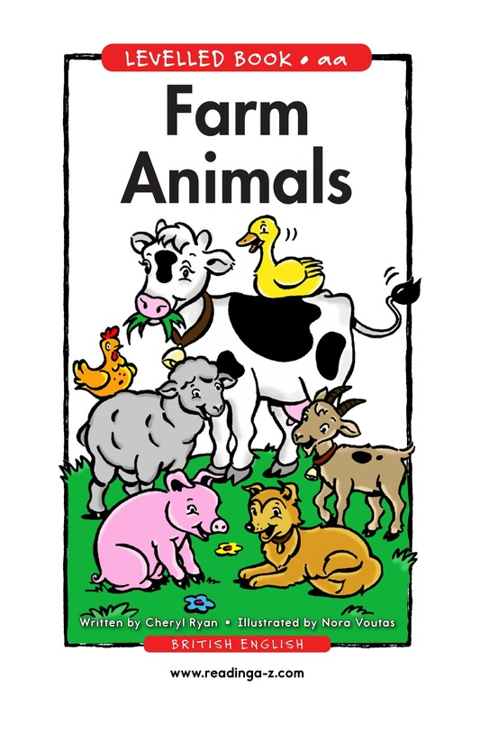 Book Preview For Farm Animals Page 1