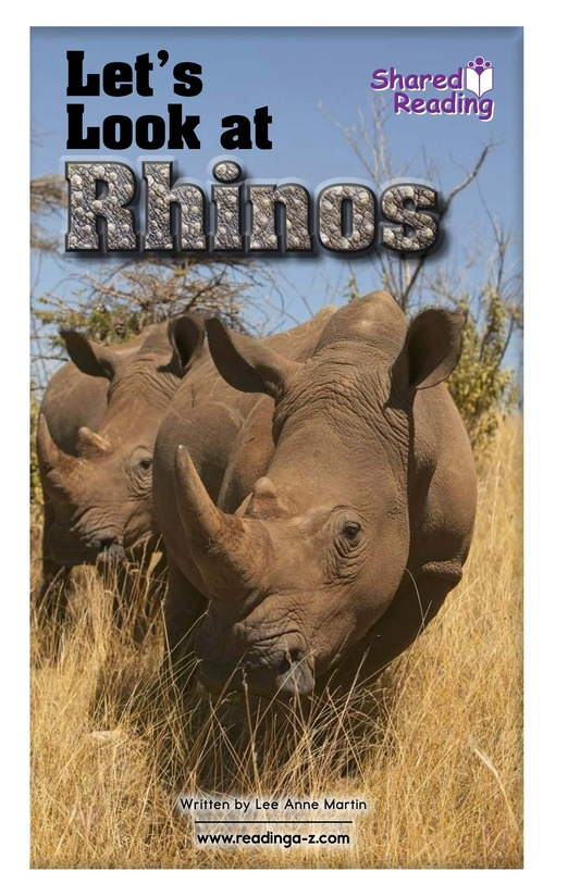 Book Preview For Let's Look at Rhinos Page 1