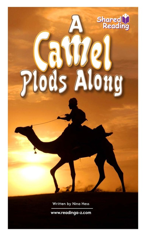 Book Preview For A Camel Plods Along Page 1