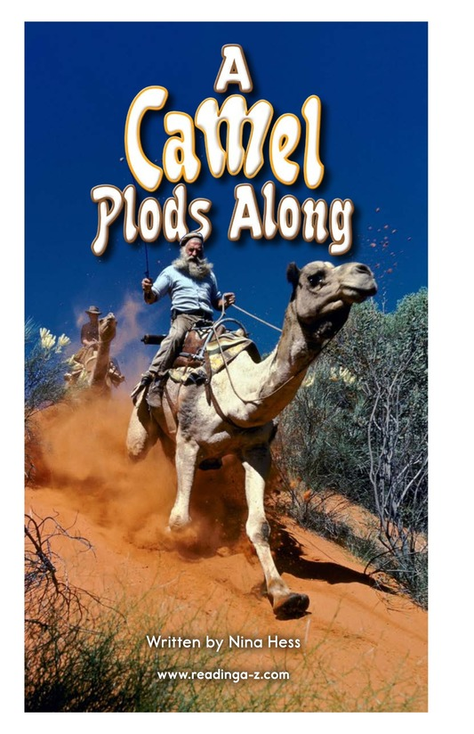 Book Preview For A Camel Plods Along Page 2