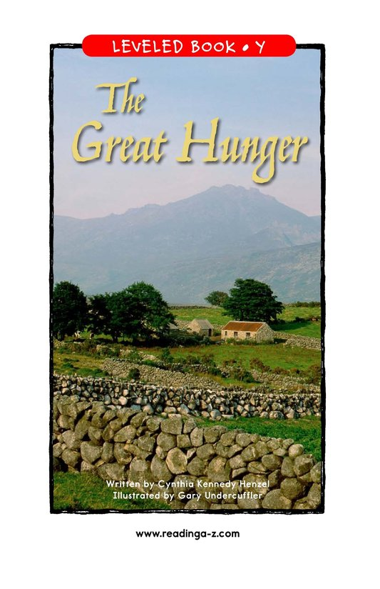 Book Preview For The Great Hunger Page 1