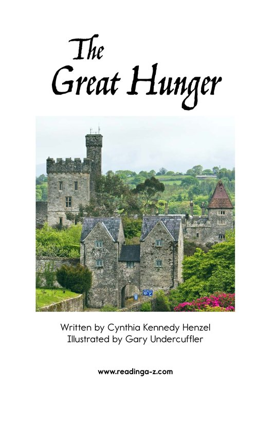 Book Preview For The Great Hunger Page 2