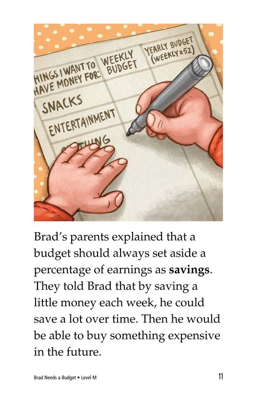 Book Preview For Brad Needs a Budget Page 11