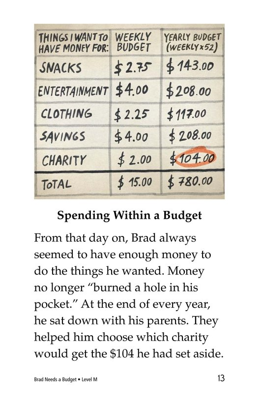 Book Preview For Brad Needs a Budget Page 13