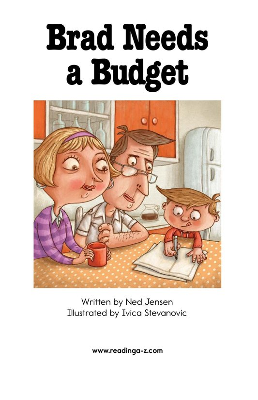 Book Preview For Brad Needs a Budget Page 2