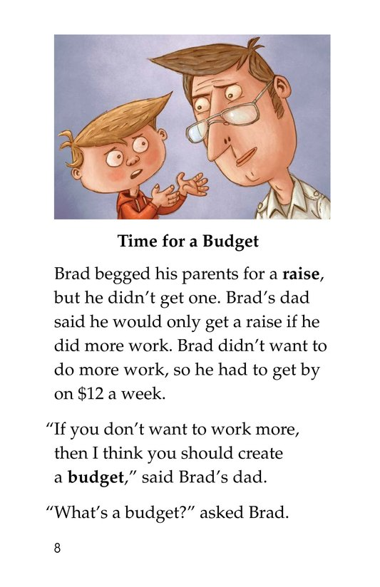 Book Preview For Brad Needs a Budget Page 8