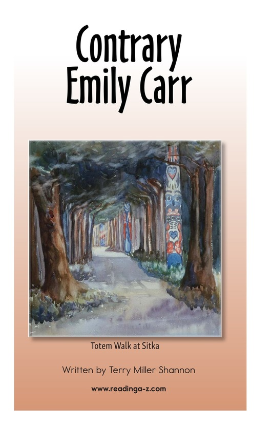Book Preview For Contrary Emily Carr Page 1