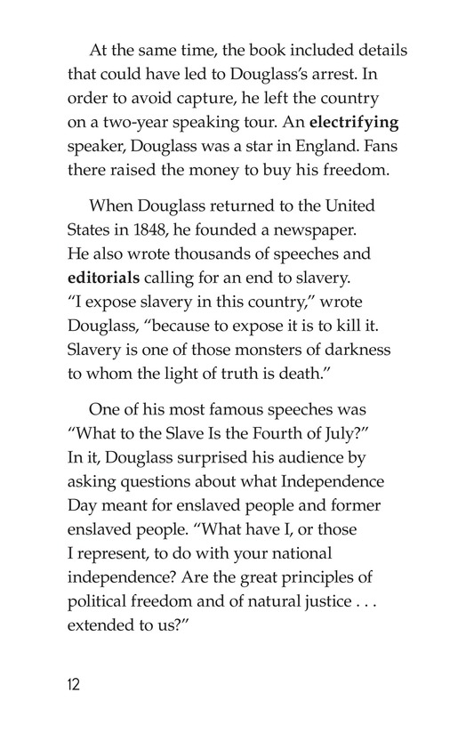 Book Preview For Frederick Douglass: Forever Free Page 12
