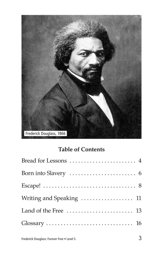 Book Preview For Frederick Douglass: Forever Free Page 3