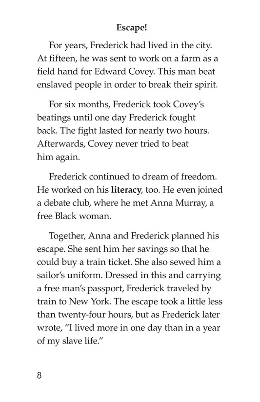 Book Preview For Frederick Douglass: Forever Free Page 8