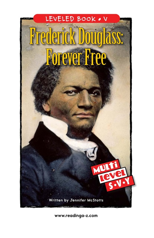 Book Preview For Frederick Douglass: Forever Free Page 1