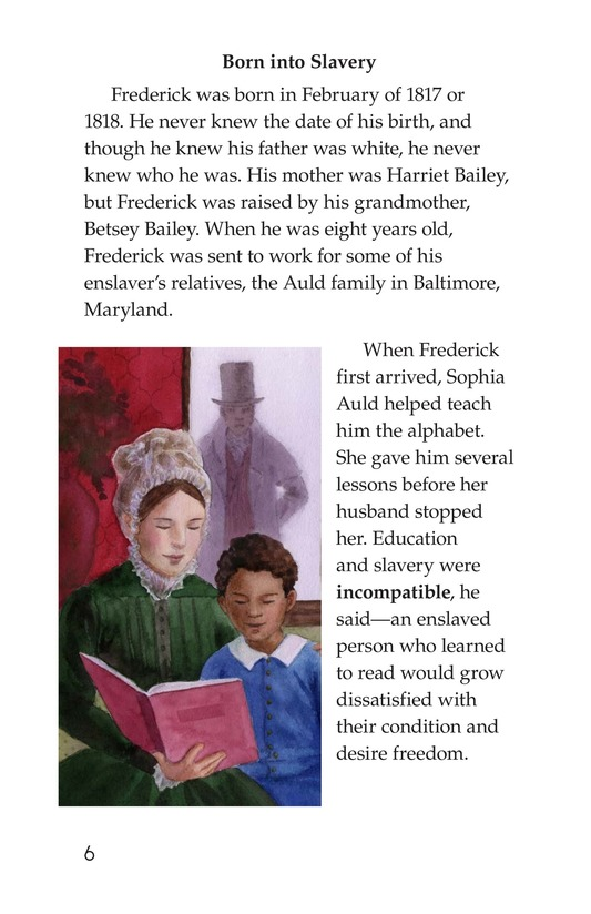 Book Preview For Frederick Douglass: Forever Free Page 6